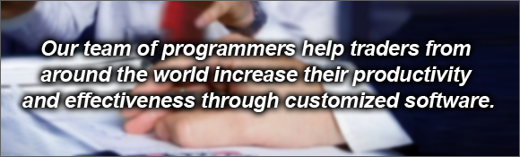 We develop custom programming solutions and custom Expert Advisers
